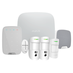 Kit alarma inalámbrica Grado 2 AJAX con 2 cámaras 2G y detector IR