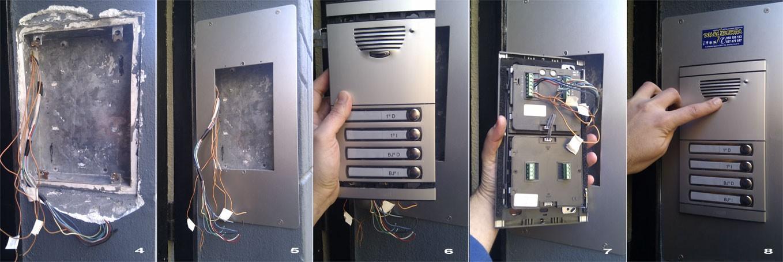 Instalaci n de portero autom tico para 4 vecinos for Instalacion portero automatico tegui