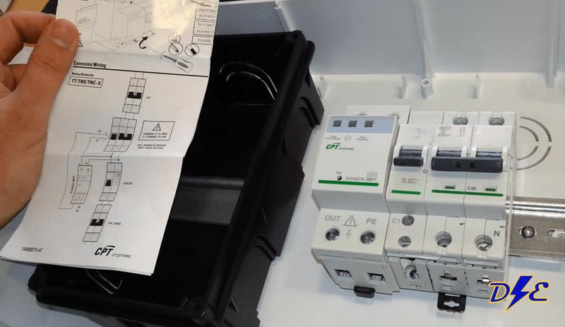 Cablear cuadro electrificaci n b sica domo electra for Protector sobretensiones permanentes y transitorias