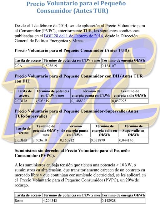 como-bajar-potencia-contratada-tabla-precio-kWh-kW-tarifa-tur-2.0A-PVPC-manuel-amate-domo-electra-generen