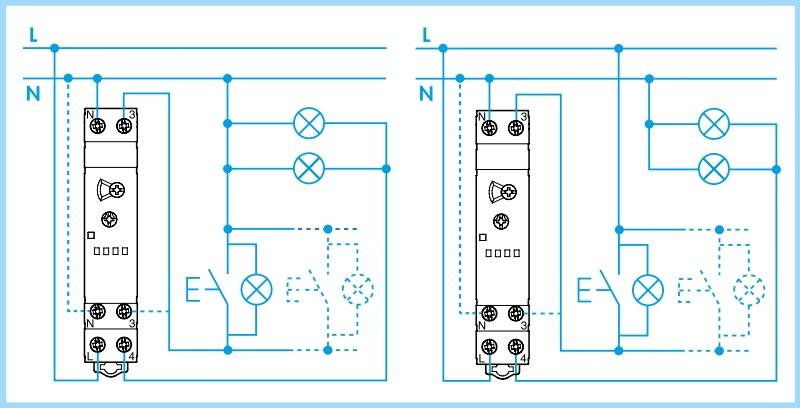 esquema automatico escalera finder 14.71 conexionado