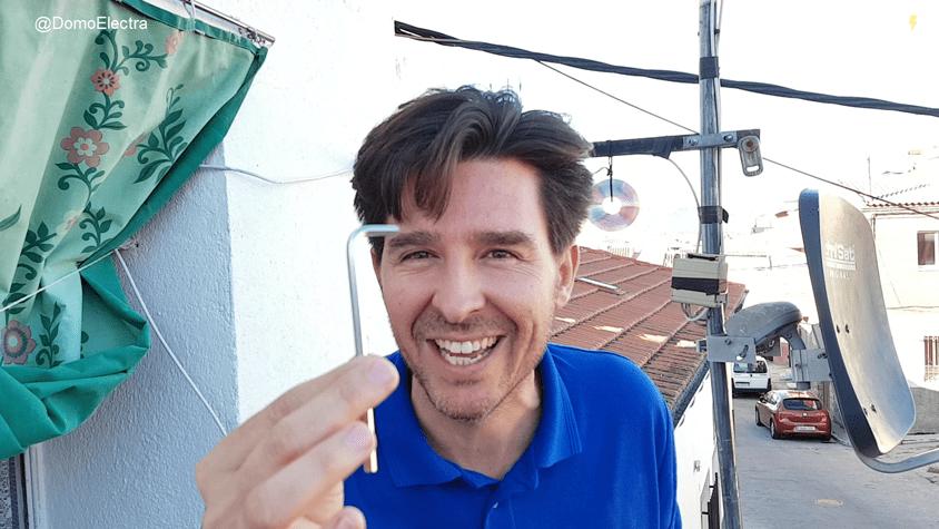 orientar parabolica llave allen sin medidor campo