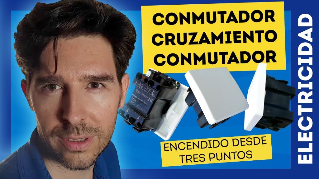 conmutador cruzamiento conmutador encendido desde tres puntos de luz