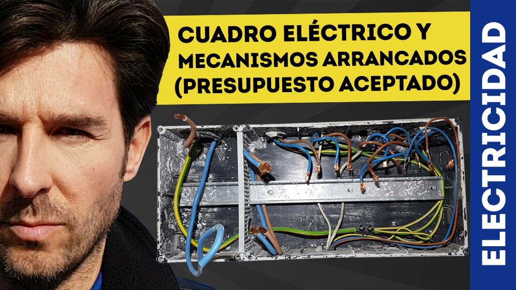 cuadro eléctrico arrancado
